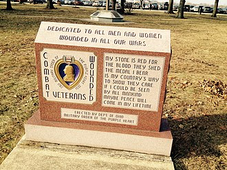 Military Order of the Purple Heart - MOPH memorial at the National Museum of the United States Air Force.