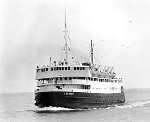 MV Abegweit (1947) - Abegweit crossing the Northumberland Strait in her glory days.