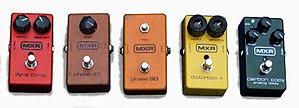 MXR - Image: MXR effect pedals 1