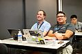 Maarten Dammers & Siebrand Mazeland at Wikimania 2014.jpg