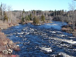 International scale of river difficulty - Image: Madawaska River Whitney