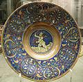 Maestro giorgio da gubbio, piatto con amorino, 1500-1550 ca. 01.JPG