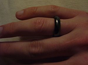 Magnet therapy - Magnetite ring.