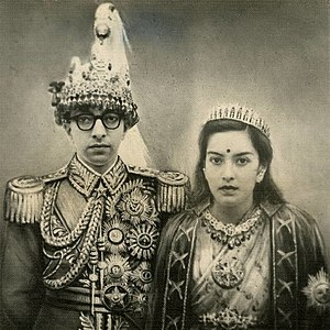 Mahendra of Nepal - King Mahendra and Queen Ratna in 1957 AD