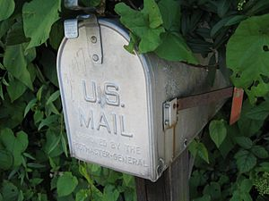 A United States mailbox.