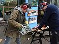 Maintenance work (circular saw) at Gunnersbury Triangle.JPG