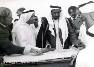 Majid Al Futtaim - Majid Al Futtaim with Sheikh Rashid bin Saeed.