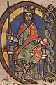 Malcolm IV, King of Scotland, charter to Kelso Abbey, 1159, initial (crop David I).jpg