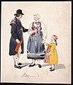 Man, kvinna, flicka i Leksand. Akvarell av Fritz von Dardel - Nordiska museet - NMA.0037692.jpg