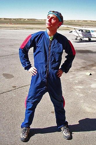 Jumpsuit - A man wearing a jumpsuit
