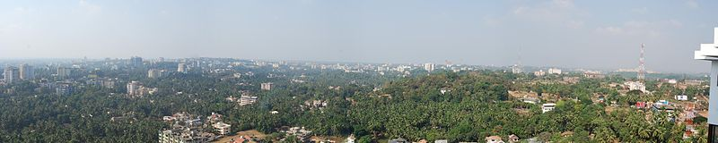 Panoramic image of Mangalore city from Kadri