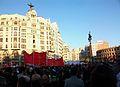 Manifestació per la vaga general, 29 de març de 2012, carrer de Xàtiva de València.JPG