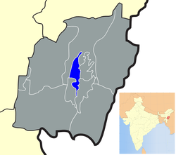 Location of Imphal West district in Manipur