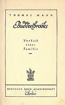 Thomas mann wikipedia buddenbrooks 1909 fandeluxe Image collections