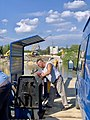 Manually operated cable ferry between Borusowa and Nowy Korczyn, Poland, 2019, 04.jpg