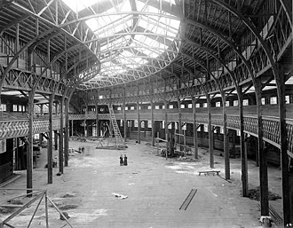 Alaska–Yukon–Pacific Exposition - Manufactures Building under construction.