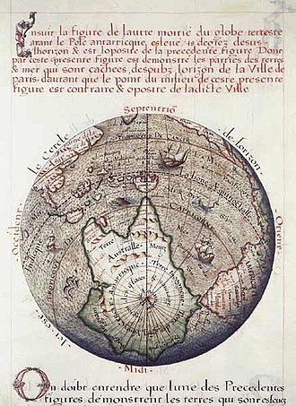 Terra Australis - Terre Australle, 1583.