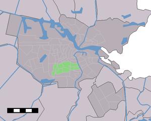 Amsterdam Oud-Zuid - Image: Map NL Amsterdam Stadsdeel Oud Zuid