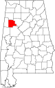 Map of Alabama highlighting Fayette County.svg