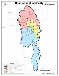 Map of Bhadrapur
