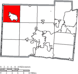 Location of Oxford Township in Butler County