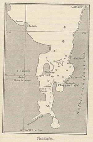 Finschhafen - Map of Finschhafen by Otto Finsch
