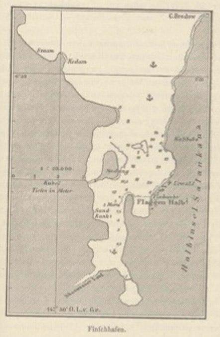 Map of Finschhafen by Otto Finsch