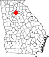 Map of Georgia highlighting Gwinnett County.svg