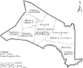 Map of Jones County North Carolina With Municipal and Township Labels.PNG