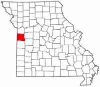 Map of Missouri highlighting Cass County.png