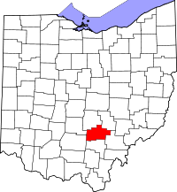 Map of Ohio highlighting Hocking County.svg