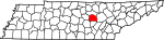 State map highlighting White County