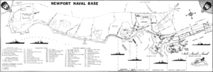 Naval Station Newport - Map of Naval Station Newport in 1966.