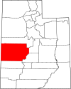 State map highlighting Millard County