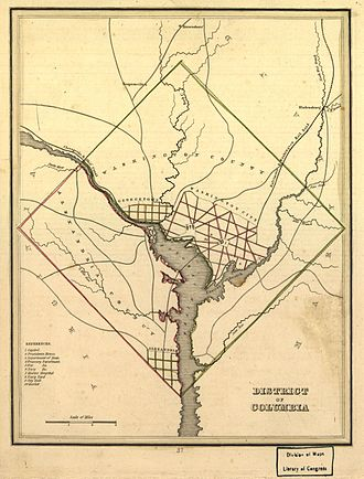 Map of the District, 1835 Map of Washington and Alexandria County in 1835.jpg