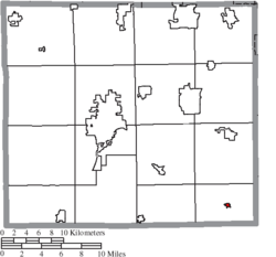 Location of Mount Eaton in Wayne County