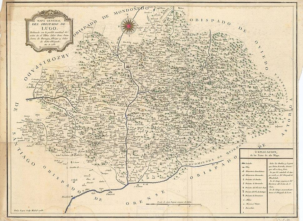 Mapa do bispado de Lugo (1768)