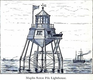 Maplin Sands - Maplin Screw Pile Lighthouse
