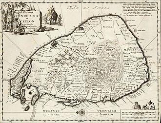 Dutch Ceylon - Image: Mapof Eelam Tamilcountryengravin g 1692