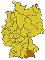Mappa della diocesi di Monaco-Frisinga (Germania).png