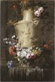 Marble Vase with Garland of Flowers (Jean-Baptiste Monnoyer) - Nationalmuseum - 18714.tif