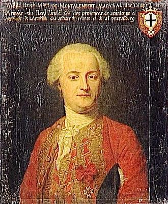 Marc René, marquis de Montalembert - Portrait of Marc-René, marquis de Montalembert by Quentin de La Tour (18th-century)
