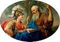 Marcello Bacciarelli - Alcibiades Being Taught by Socrates, 1776-77.jpg