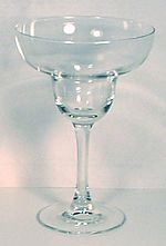 A margarita glass