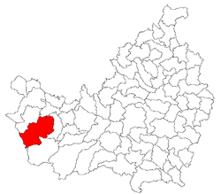 Location of Mărgău