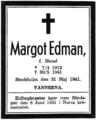 Margot Edman (f. Hanel), dödsannons.png