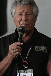 Mario Andretti speaking at the Barber Legends of Motorsport 2010 crop.jpg