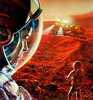 Aurora programme - Image: Mars human exploration art astronauts vehicle dust full