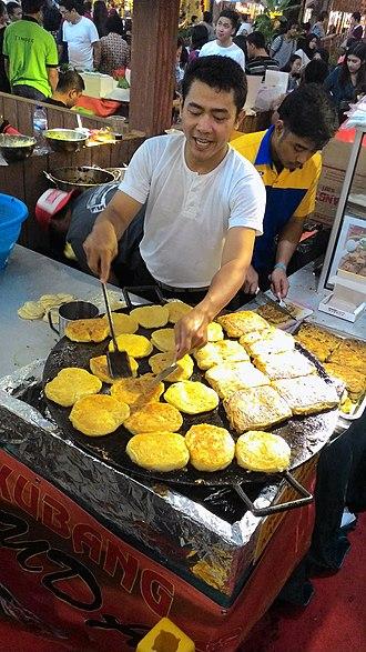 Murtabak - Martabak Kubang and roti cane making in Indonesia