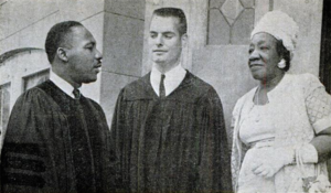 Martin Luther King, Henry Elkins, and Alberta Williams King at Ebenezer, 1962.png